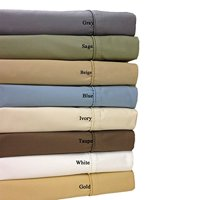 Twin Gray Cotton-Blend Wrinkle-Free Sheets 650-Thread-Count Solid Sheet Set