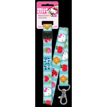 Hello Kitty Patchwork Lanyard Keychain