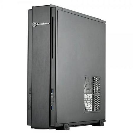 Silverstone Technology Milo Z Mini Itx   Dtx Small Form Factor Sfx Computer Case With Pci E Riser Card  Black  Ml07b