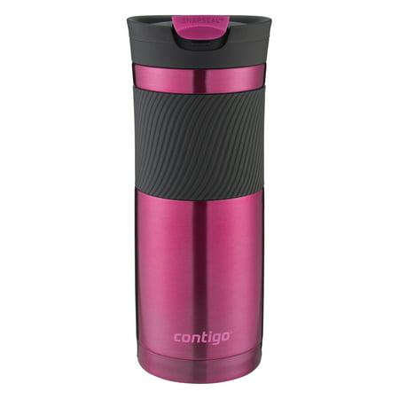 Contigo 24 Ounce Snapseal Byron Vacuum Insulated Stainless Steel Pink Travel Mug 52 Ounce Keg Mug