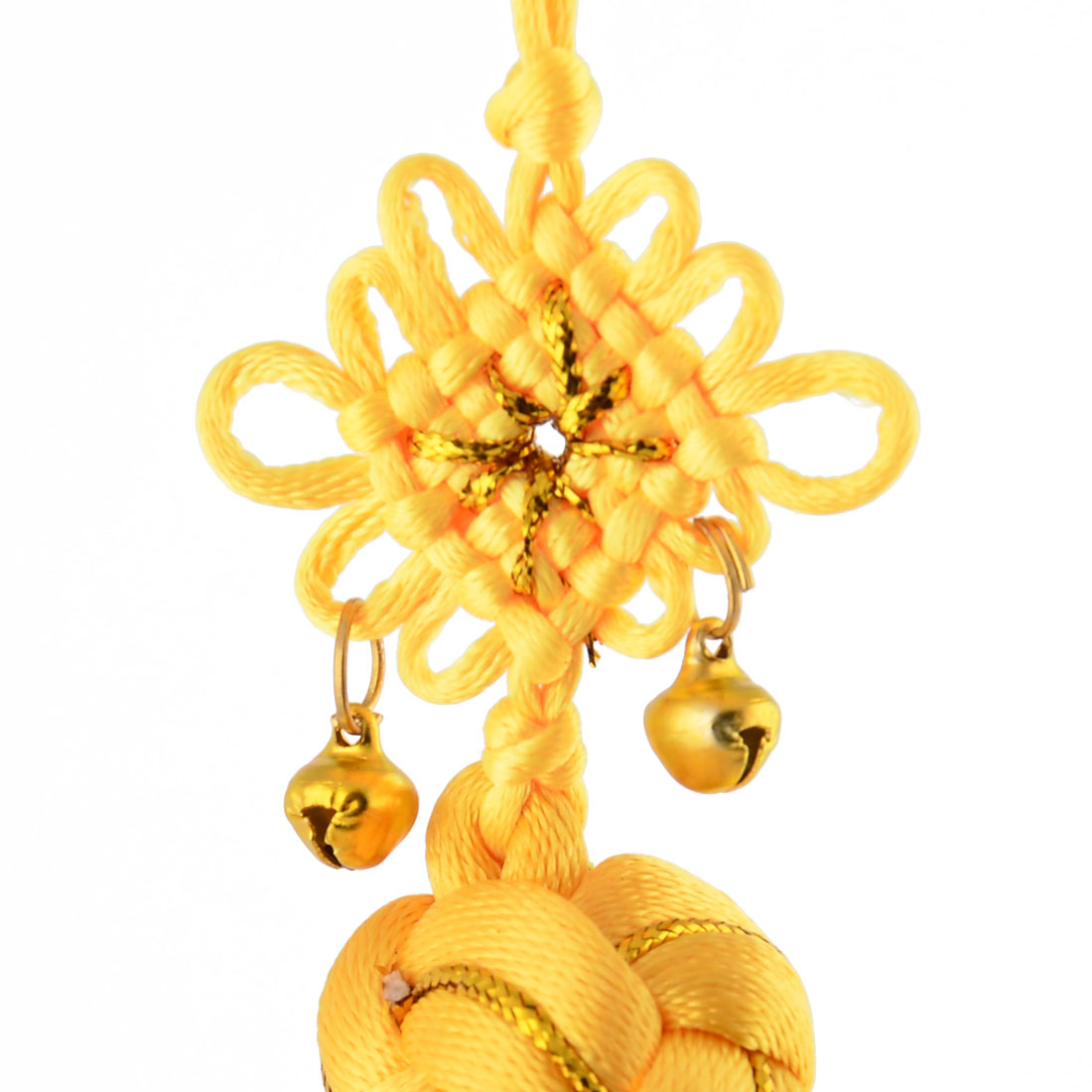Living Room Polyester Handmade Single Knot Tassel Crafting Chinese Knot Yellow - image 1 de 3