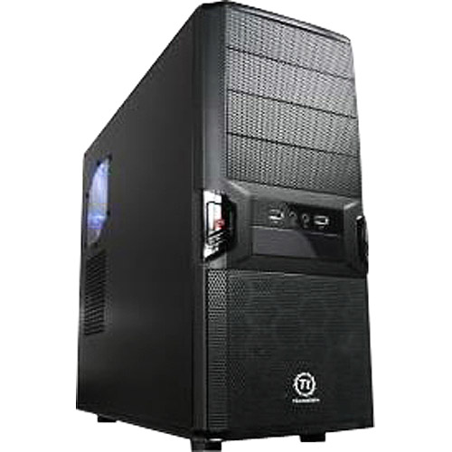 Thermaltake System Cabinet - Mid-tower - Black - 10 x Bay - 1 x Fan
