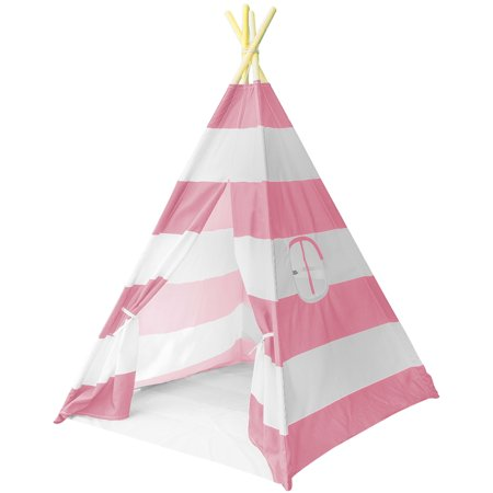 Sorbus Teepee Play Tent for Kids, Includes Portable Carry Bag for Travel or Storage (Kid Store Online)