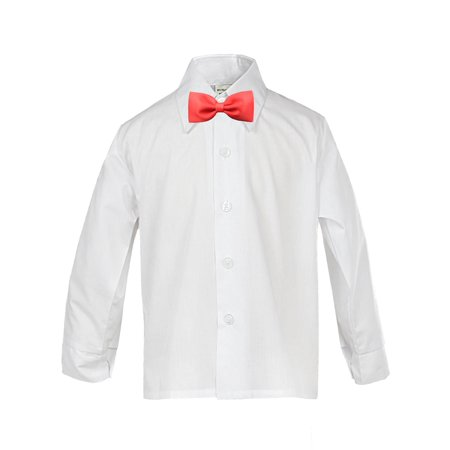 Toddler Baby Boy Kid Formal Party Tuxedo Suit White Dress Shirt RED Bow tie Sm4T](Kids Dress Shorts)