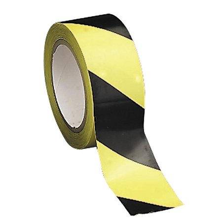 Tatco Signs - Tatco Hazard/Aisle Marking Tape, Yellow, Black, 1 Roll (Quantity)