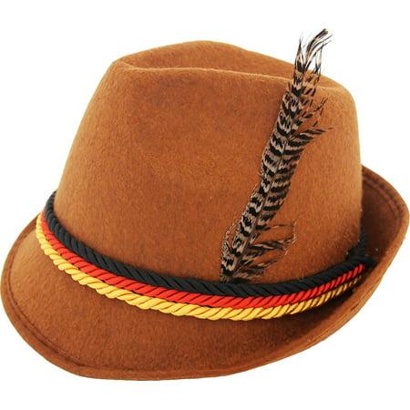 German Hats Oktoberfest (German Alpine Bavarian Oktoberfest Costume Hat with)