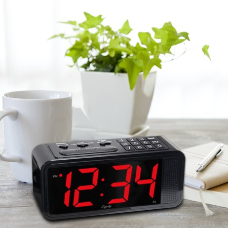 Equity by Lacrosse Quick-Set LED Alarm Clock, (Set Alarm For 7 O Clock Tomorrow Morning)