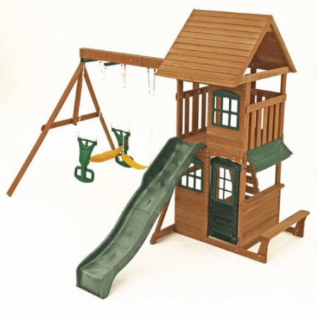 Superieur Big Backyard Windale Wooden Cedar Swing Set Image 6 Of 8
