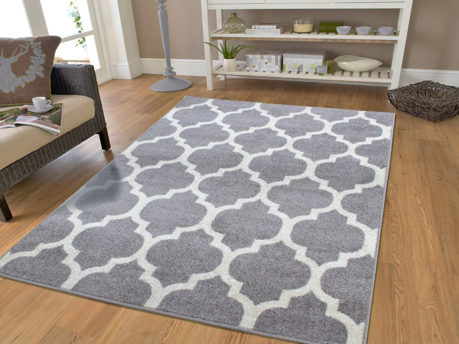 Fashi Gray Rugs For Bedroom Grey