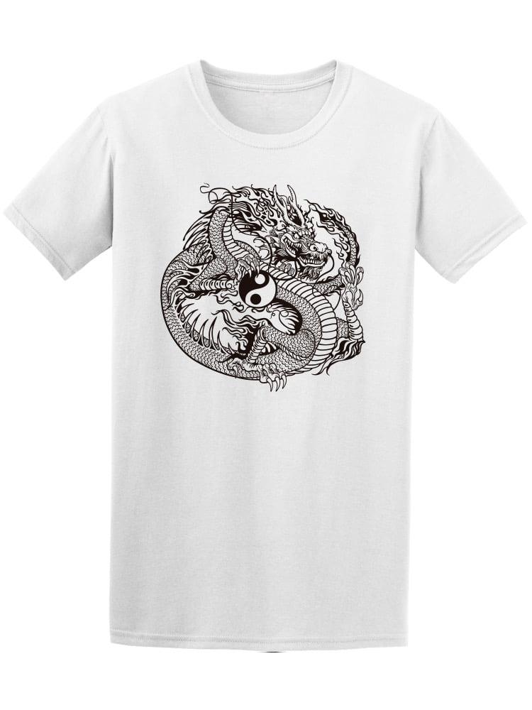 Dragon Yin Yang-3 Mens Short-Sleeve Polo T Shirt