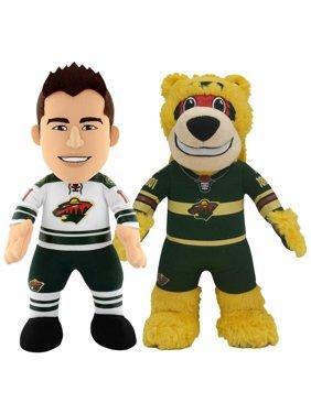 "Minnesota Wild Bundle: Mascot Nordy and Zach Parise 10"" Plush Figures"