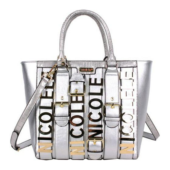 909bd20358 Nicole Lee - Women s Nicole Lee Hilliard Belt Embellish Tote Handbag ...
