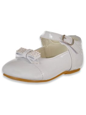 Angels Baby Girls' Bow-Tie Mary Janes Shoes (Sizes 2 - 6)