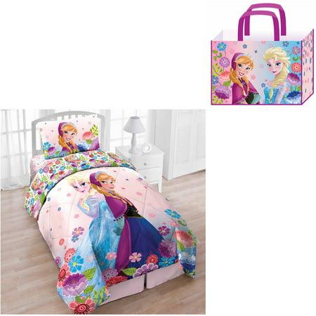 Disney Frozen  Piece Twin Bedding Set With Bonus Tote