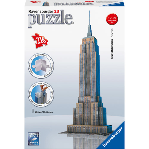 Ravensburger Empire State Building 216 Piece 3D Building Set