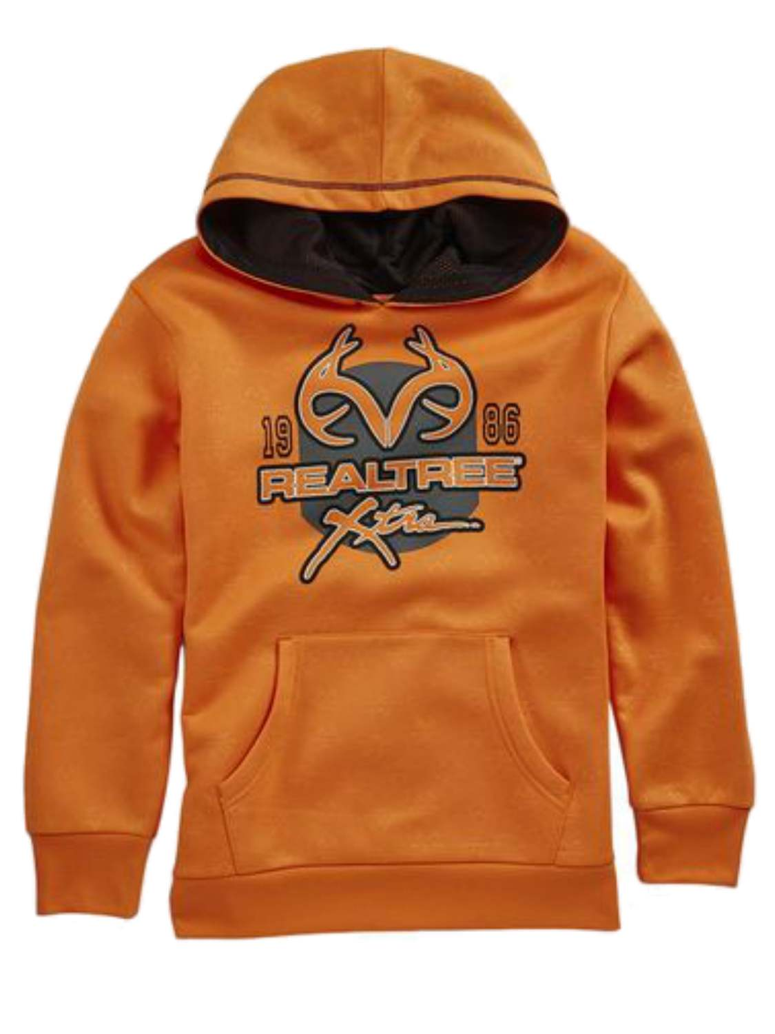 Realtree Xtra Boys Orange Poly Fleece Pullover Hoodie Sweatshirt