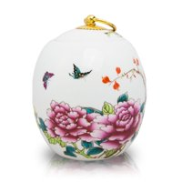 Ceramic Memorial Urn For Adults - Large 135 Pounds -  White Butterfly - Engraving Sold Separately