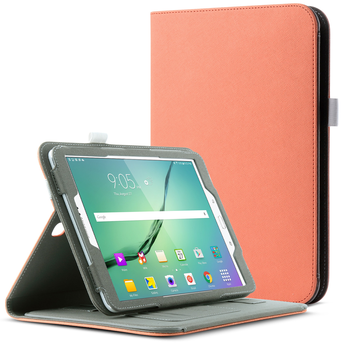 Galaxy Tab S2 Case, Tab S2 Keyboard, ULAK Portable Bluetooth Keyboard with Built In Hand Strap & Media Stand for Samsung Galaxy Tab S2 (9.7 inch) 2015 Release