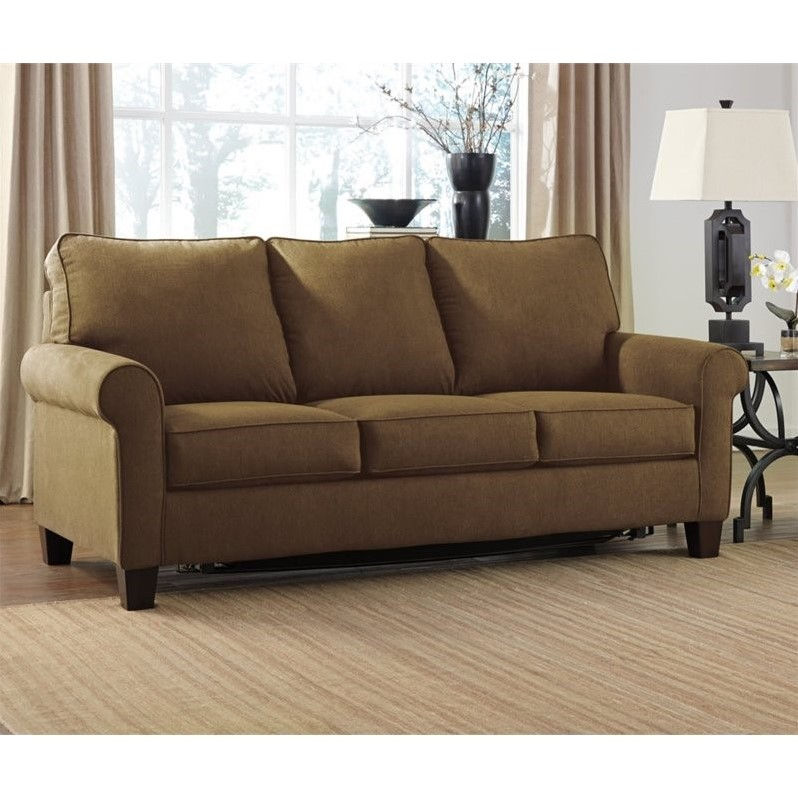 Ashley Zeth Fabric Full Size Sleeper Sofa in Denim Walmart