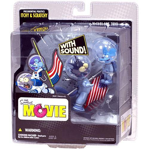 Mcfarlane Presidential Politics Itchy & Scratchy Action F...