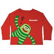 Personalized Yo Gabba Gabba! Brobee Music Red Toddler Boys' Long-Sleeve Tee