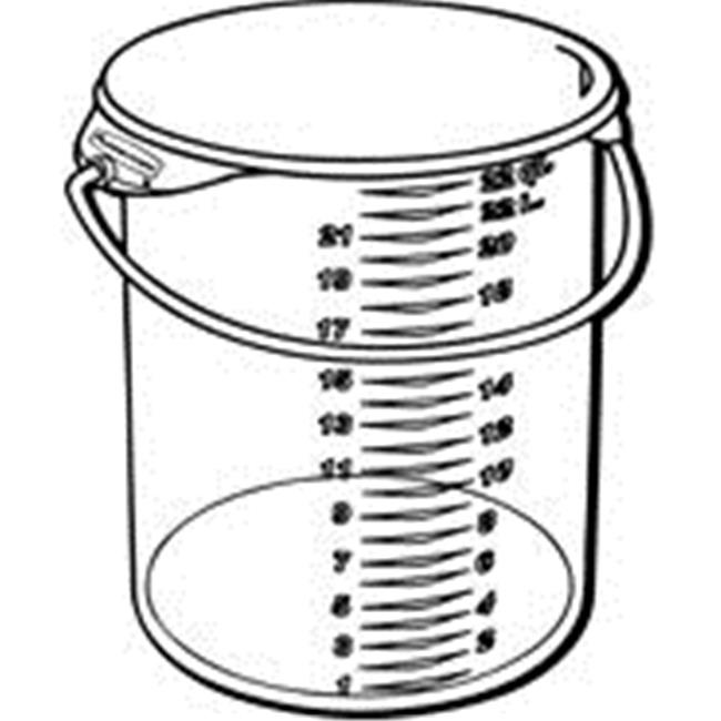 Rubbermaid Commercial Products 572924CLE Round Storage Container With Bail, Clear