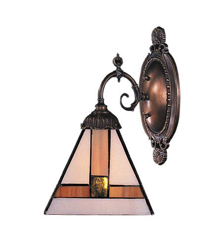 Wall Sconces 1 Light With Tiffany Bronze Finish Medium Base 5 inch 75 Watts - World of Lamp
