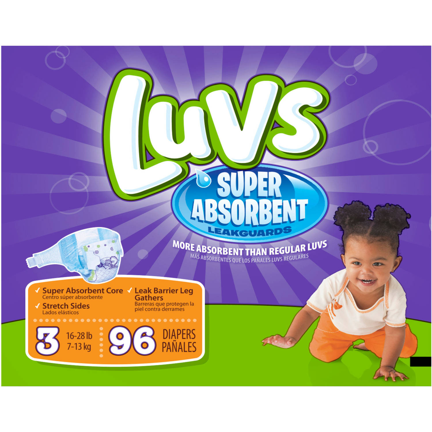 Luvs Diapers with Ultra Absorbent Leakguards, Size 3 - Walmart.com