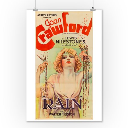 Rain   Joan Crawford Vintage Poster Usa C  1932  9X12 Art Print  Wall Decor Travel Poster