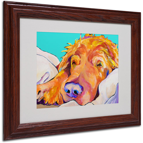 Trademark Art 'Snoozer King' Framed Matted Art by Pat Saunders-White