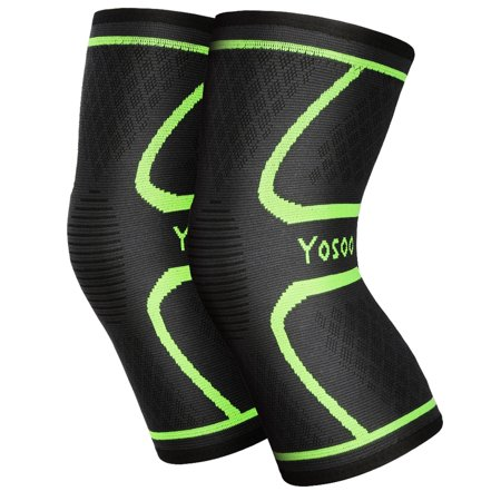 Knee Sleeves, Pair of Knee Compression Sleeves, for Running, Jogging, Walking, Hiking, Workout, Basketball, Knee Injury Pain Arthritis Relief (S) (Workout Knee Pads)