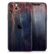 Abstract Fire & Ice V14 - DesignSkinz Protective Vinyl Decal Wrap Skin Cover compatible with the Apple iPhone XS (Full-Body, Screen Trim & Back Glass Skin)