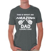 Awkward Styles This Is What An Amazing Dad Looks Like Shirt Amazing Dad Men's Graphic T-shirt Tops Daddy Gifts for Father's Day Dad T-shirt Father Gifts Best Dad Tshirts