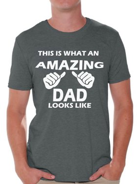 8ae085d14 Product Image Awkward Styles This Is What An Amazing Dad Looks Like Shirt  Amazing Dad Men's Graphic T