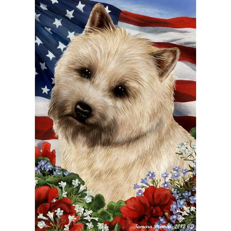 Cairn Terrier Wheaten - Best of Breed Patriotic I Garden (Cairn Terrier Silhouette)