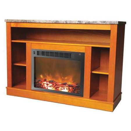 "Cambridge CAM5021-1TEK Seville Electric Fireplace for Most Flat-Panel TVs Up to 50"" Teak"