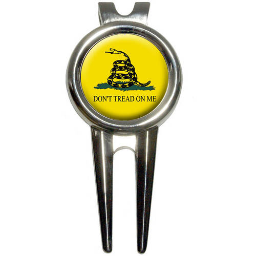 Gadsden Flag Don't Tread On Me Golf Divot Repair Tool and Ball Marker