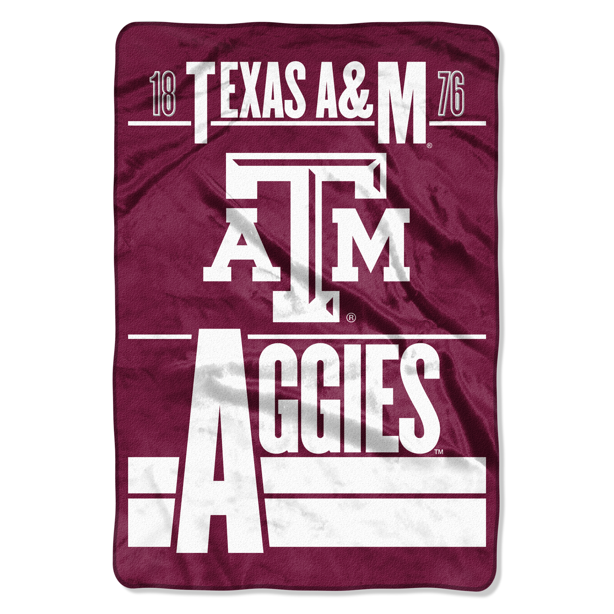 "NCAA Texas A&M Aggies Faculty Oversized Micro Raschel Throw 62"" x 90"" Blanket, 1 Each"