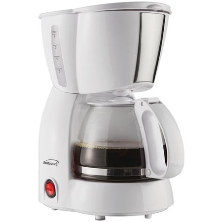 Brentwood Appliances TS-213W 4-Cup Coffee Maker,