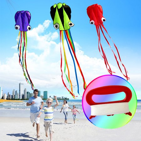 Toys & Hobbies Professional Kite Diy Octopus Kite Single Line Stunt High Quality Software Power Kite Easy To Fly Kids Outdoor Fun 3d 4m