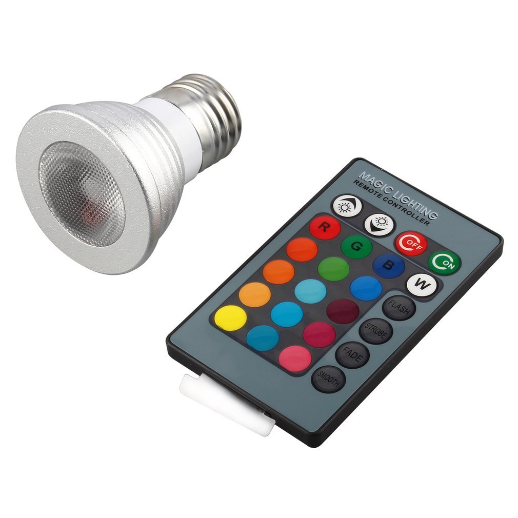 5W E27 Multi Color Change RGB LED Light Bulb Lamp with Remote Control Ultra Bright Environment-friendly No UV IR radiation. on sale
