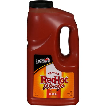 Frank's RedHot Buffalo Wings Sauce, 64 fl oz Wing Sauce Case
