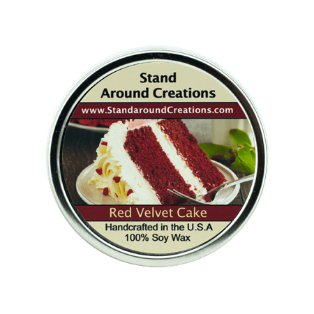 RED VELVET CAKE TIN 16-OZ. ALL NATURAL SOY CANDLE