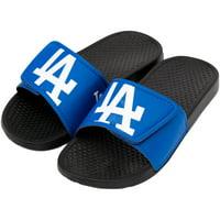 Los Angeles Dodgers Youth Cropped Big Logo Slide Flip Flops