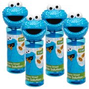 Little Kids Sesame Street 4-Piece Bubble Heads with Wand, Cookie Monster