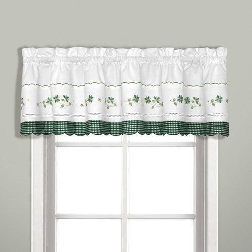 gingham green kitchen curtain walmart