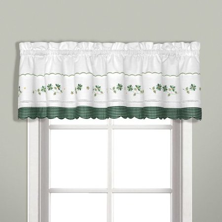 Gingham Green Kitchen Curtain