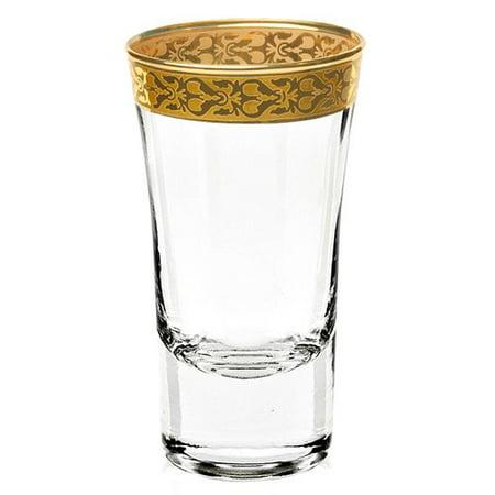 Lorren Home Trends Venezia 2 oz. Crystal Shot Glass (Set of 4)