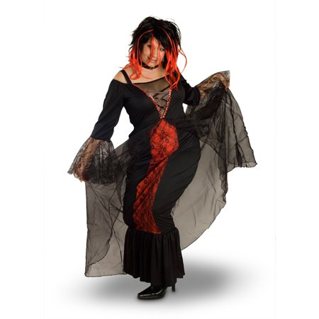 Lava Diva Vampiress Women's Plus Size Adult Halloween (80's Diva Plus Size Costume)