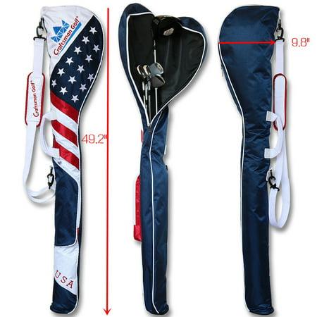 Craftsman Golf Sunday Bag USA Flag Style Shoulder Bag Club Orgnizor Travel Gym
